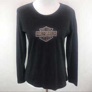 Hartley Davidson Long Sleeve T-Shirt Top Blouse L
